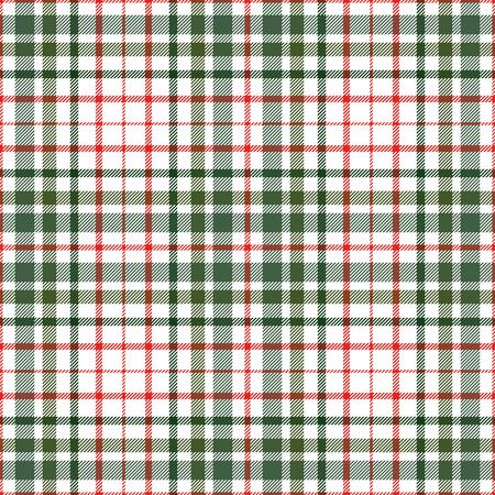 Plaid check pattern. Seamless checkered fabric texture. Ilustración de vector