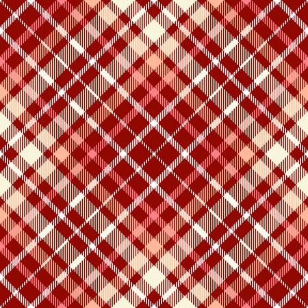 Plaid check pattern. Seamless fabric texture. Illustration