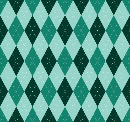 Argyle check pattern. Seamless checkered fabric texture. Stock Vector - 122854924