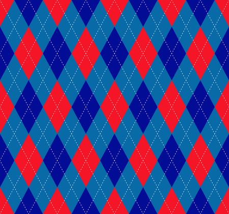 Argyle check pattern. Seamless checkered fabric texture.
