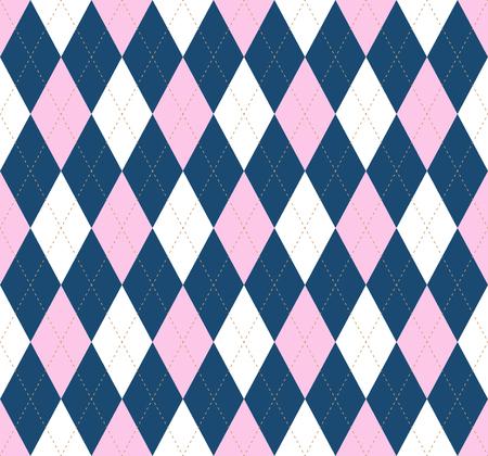Argyle check pattern. Seamless checkered fabric texture. Stock Vector - 122854950