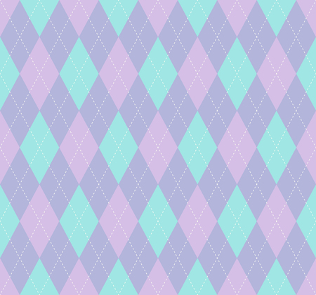 Argyle check pattern. Seamless checkered fabric texture.