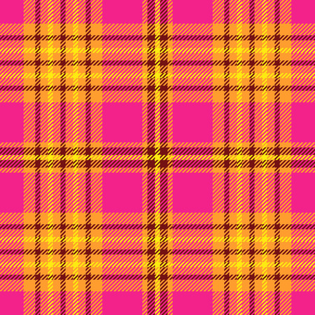 Plaid check pattern. Seamless checkered fabric texture. Archivio Fotografico - 122854960