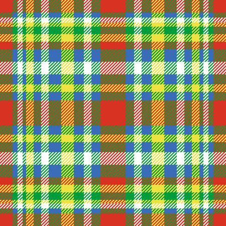 Plaid check pattern. Seamless checkered fabric texture print.