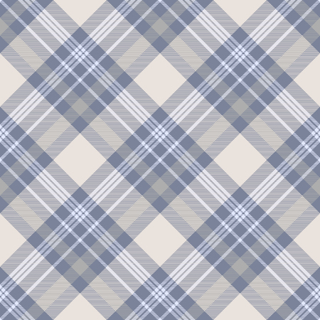 Plaid check pattern. Seamless checkered fabric texture print. Stock Vector - 122855082
