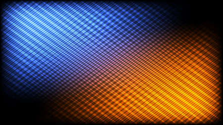 Abstract pattern of crossing lines. Blue and orange highlights. 16:9 HD aspect ratio.