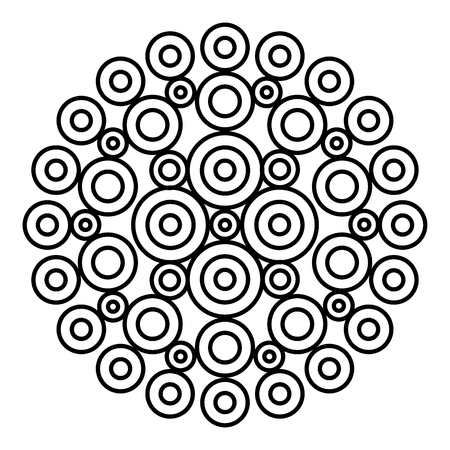Simple floral mandala pattern for coloring book pages, tattoo prints and decorative stamps. Reklamní fotografie - 122855128