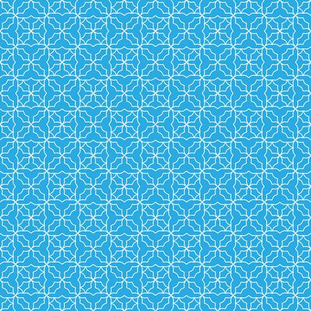 Seamless geometric print in blue and white. Reklamní fotografie - 122855144