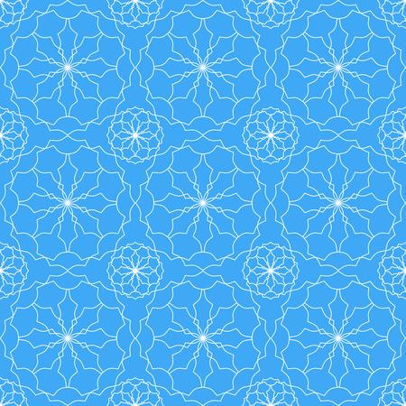 Seamless geometric print in blue and white. Banco de Imagens - 122855168