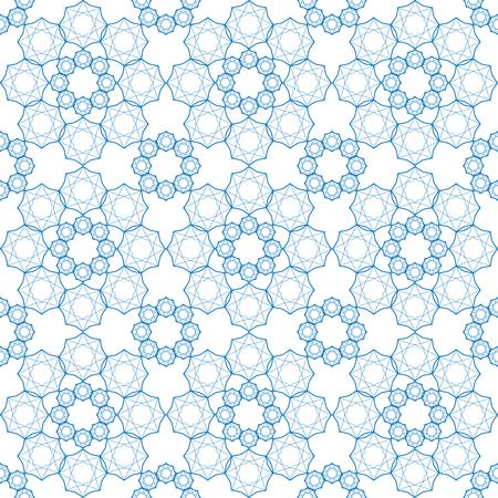Seamless geometric print in blue and white. Reklamní fotografie - 122855170