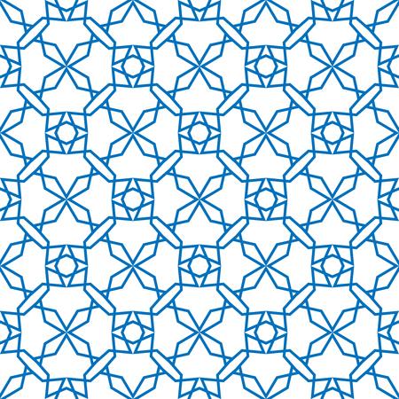 Seamless geometric print in blue and white. Banco de Imagens - 122855171