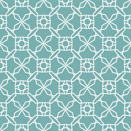 Seamless geometric print in blue and white.