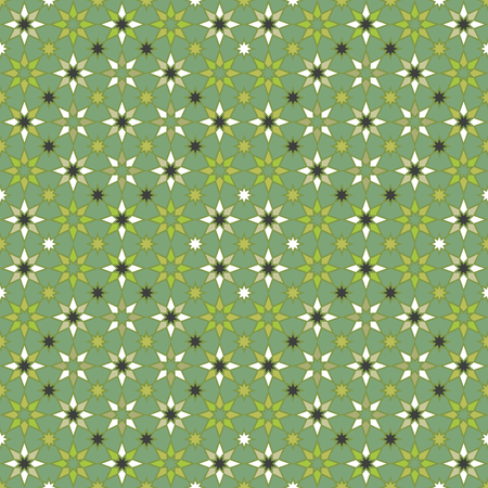 Seamless geometric stars pattern in shades of green. Reklamní fotografie - 122855180