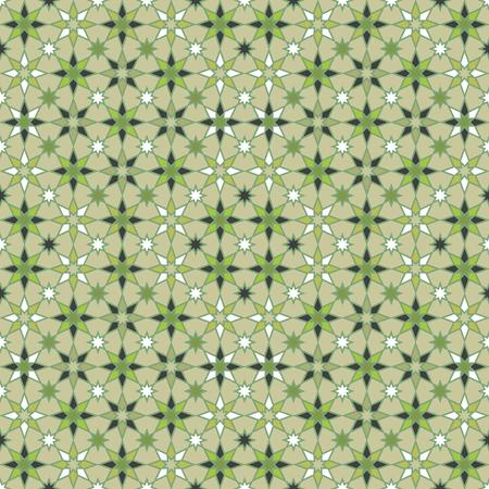 Seamless geometric stars pattern in shades of green. Reklamní fotografie - 122855183