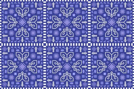 Naadloze kelim tapijt patroon. Etnische decoratieve print. Vector Illustratie