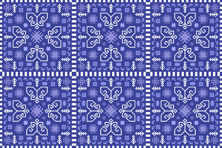 Seamless kilim rug pattern. Ethnic ornamental print.