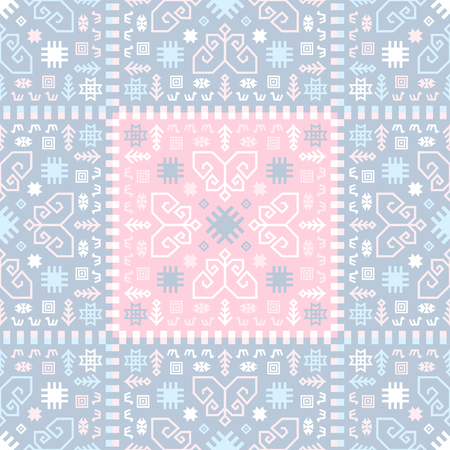 Seamless kilim rug pattern. Ethnic ornamental print.