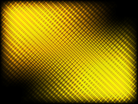 Abstract pattern of crossing lines. Rays/beams of light. Glowing golden highlights on black background.