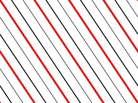 Seamless diagonal stripes pattern in red, black and white. Illustration