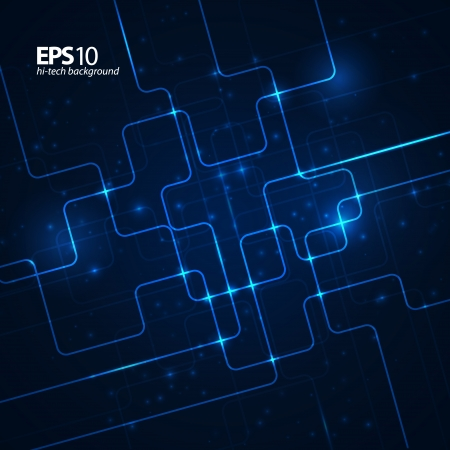 electronic background: Abstract hi-tech dark blue background.