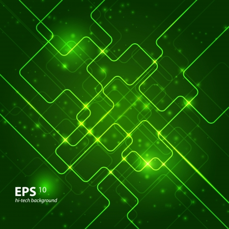 Abstract hi-tech dark green background. Vector