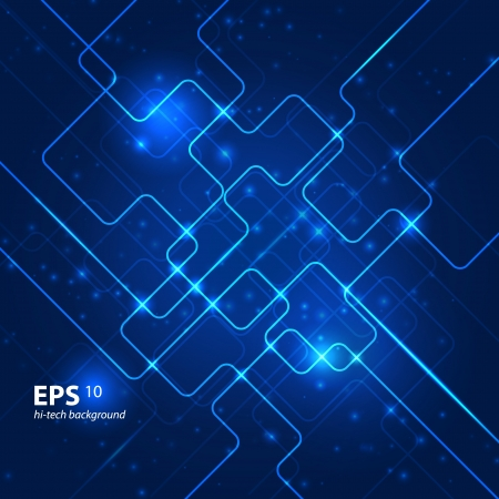 electronic circuit: Abstract hi-tech blue background.  Illustration
