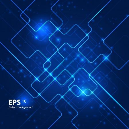 impulse: Zusammenfassung hallo-Tech-blauen Hintergrund.