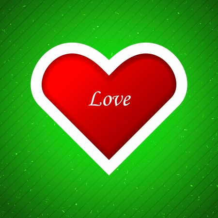 Heart applique background.  Vector
