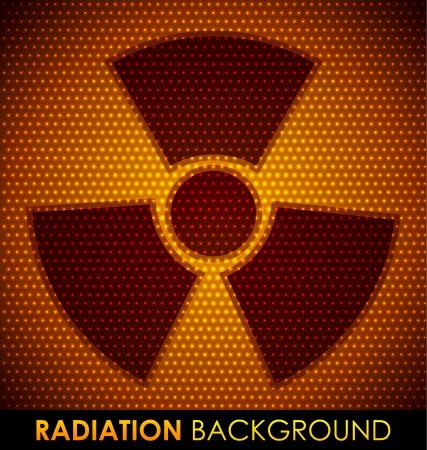 radioactive: Abstract background with radiation symbol.  Illustration
