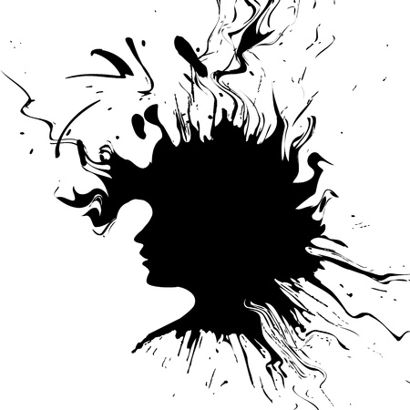 straight lines: Abstract woman silhouette.
