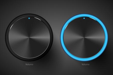 Set of black volume controls. Stock Vector - 16728145