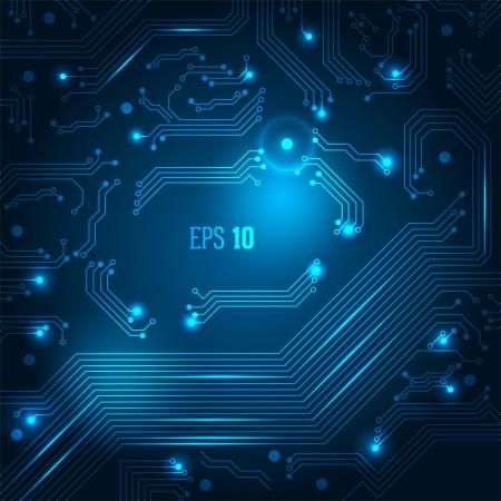 circuitboard: Astratto hi-tech sfondo blu.