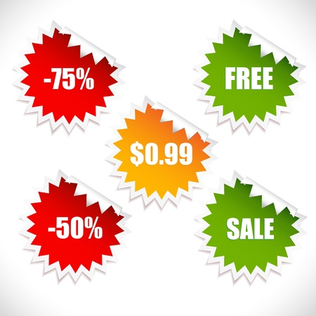 Colorful spring sale stickers  Sale