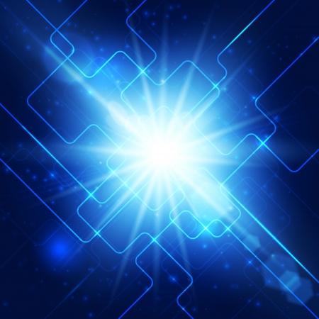 Abstract hi-technology blue background Фото со стока - 18990075