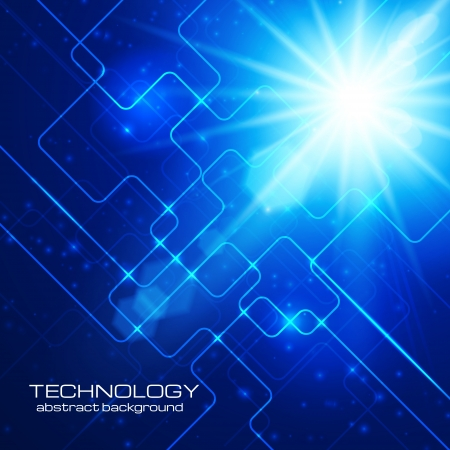 Abstract hi-technology blue background  Vector