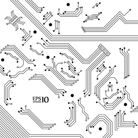 Digital background from electric circuit   Stock Vector - 18990024