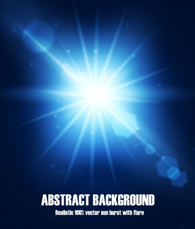 Realistic star burst with flare