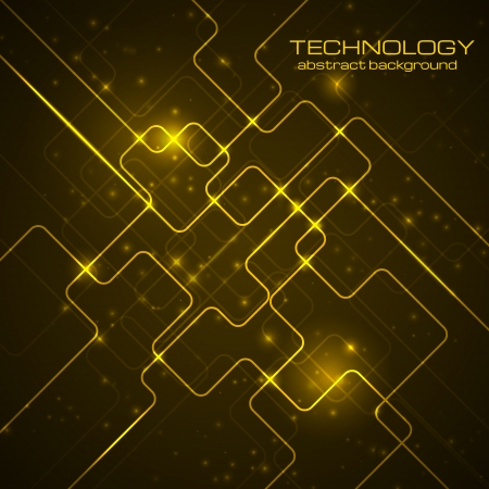 electronic circuit: Bright technology background