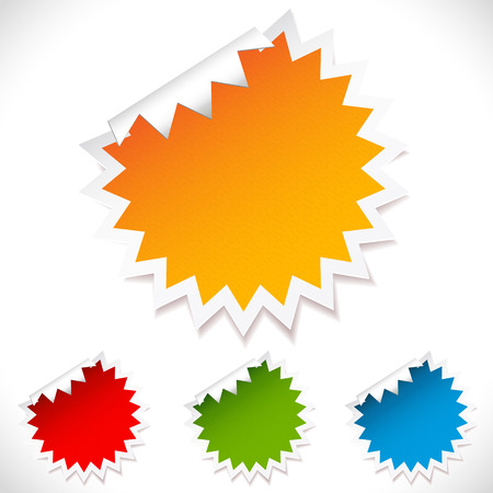 Colorful vector blank stickers.