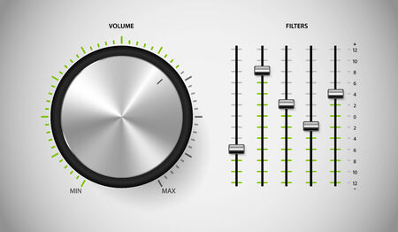 DJ media control user interface. Vector illustration. Vector