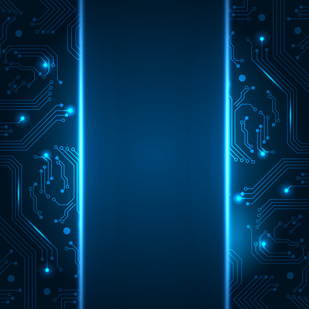 Technology background with space for your text. Vector illustration for your business presentations.