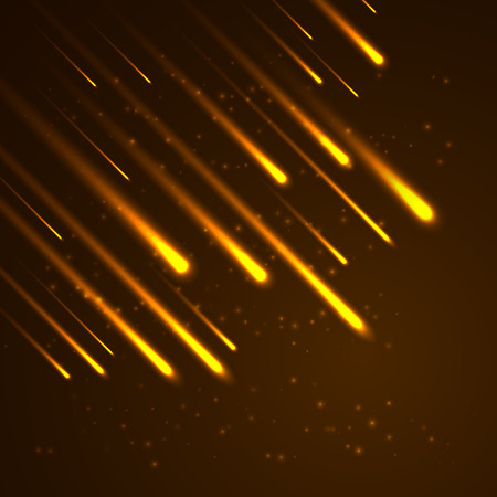Bright abstract lights background. Comets illustration. Vector.