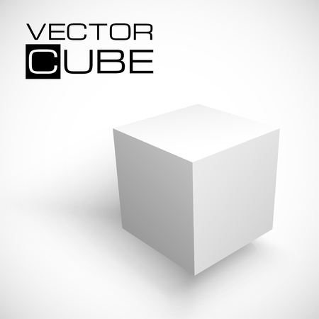3D cube isolated on white background. Shipping concept. White box. Vector illustration for your design. Иллюстрация