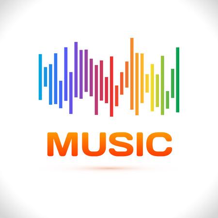 Equalizer icon. Can be used as logo to music album, dj set,concert banner. Vector illustration. Illustration