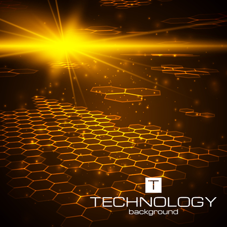 Futuristic digital background with space for your text. Technology illustration for your business,science,technology artwork. Vector design element. Фото со стока - 50339448