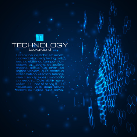 business space: Futuristic digital background with space for your text. Technology illustration for your business,science,technology artwork. Vector design element.