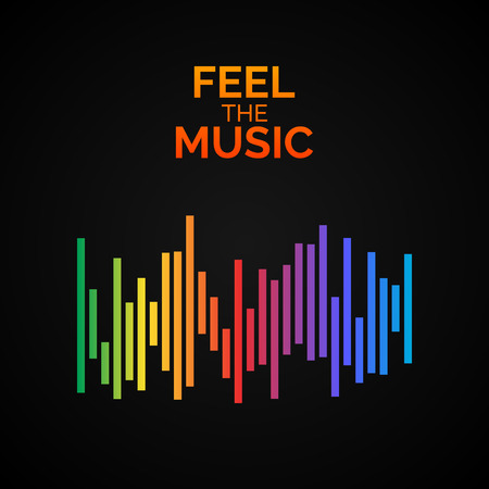 logo music: Equalizer icon. Can be used as logo to music album, dj set,concert banner. Vector illustration. Illustration
