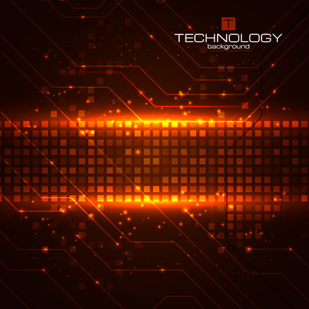 Technology background with circuit boards elements. Vector illustration for your business presentations. Illustration
