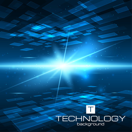 blue lines: Futuristic digital background with space for your text. Technology illustration for your business,science,technology artwork. Vector design element.
