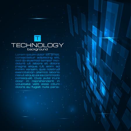 Futuristische digitale Hintergrund mit Platz für Ihren Text. Technologie Illustration für Ihr Unternehmen, Wissenschaft, Technologie Grafik. Vector Design-Element. Vektorgrafik